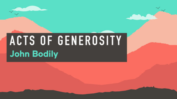 Acts from Acts series - 5/8 - Acts of Generosity Artwork image