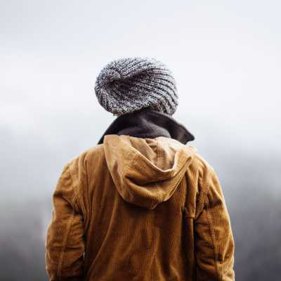 Unsplash Man with beanie walking